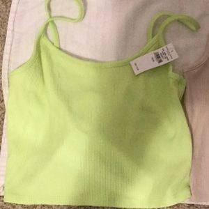 American eagle lime green tank top